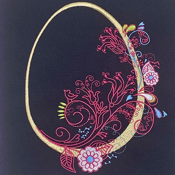 easter fashion egg embroidery design