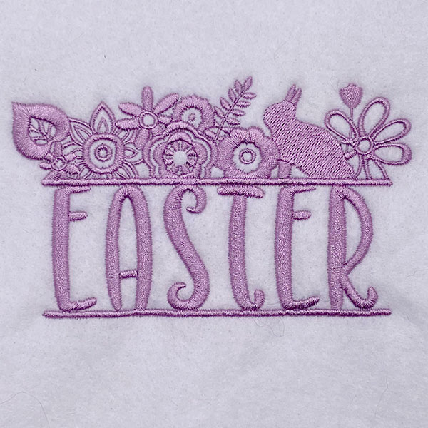 easter floral embroidery design