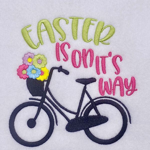 easter is on its way embroidery design