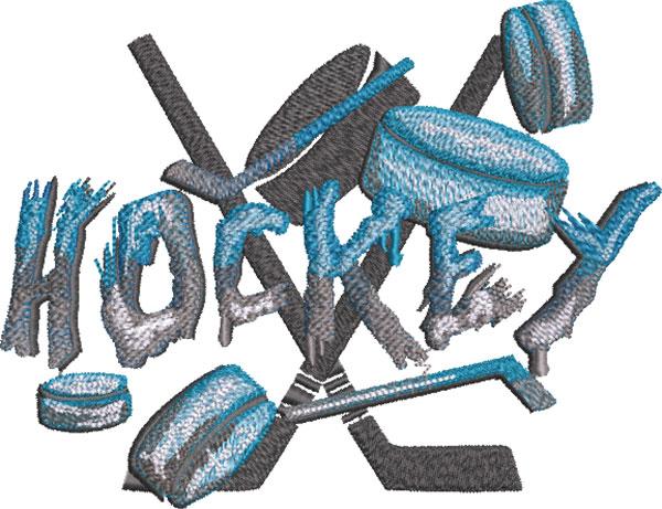 stone type hockey embroidery design