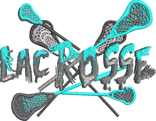 Lacrosse type embroidery design