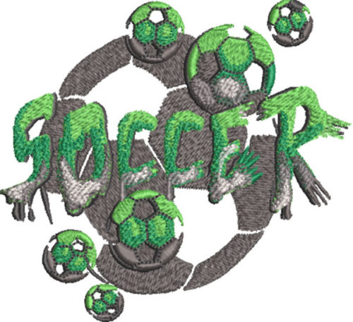 stone type soccer embroidery design