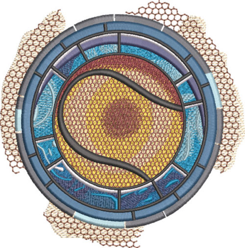 tennis medallion embroidery design