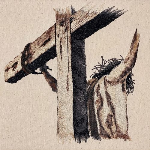 Jesus Easter Art Embroidery Design