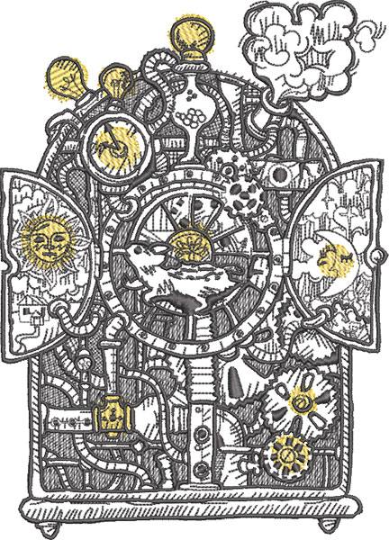 steampunk mouse embroidery design