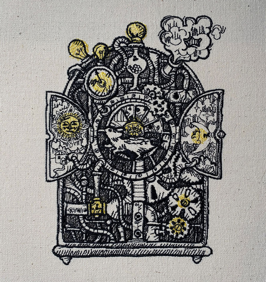 steampunk mouse embroidery design sew out