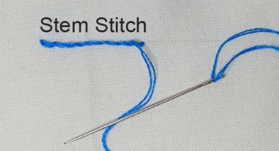 Stem Stitch Redwork