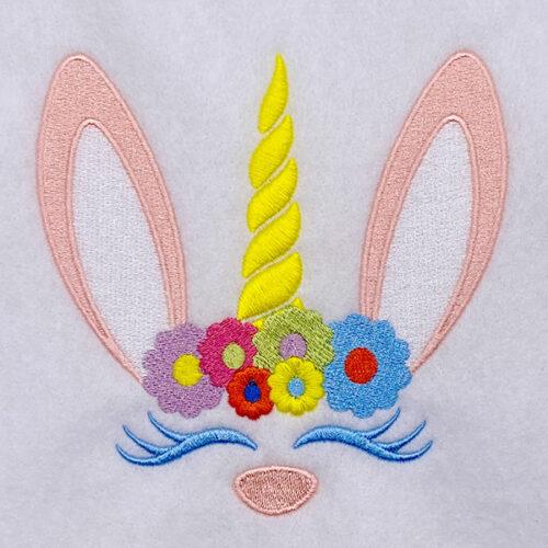 unicorn bunny embroidery design