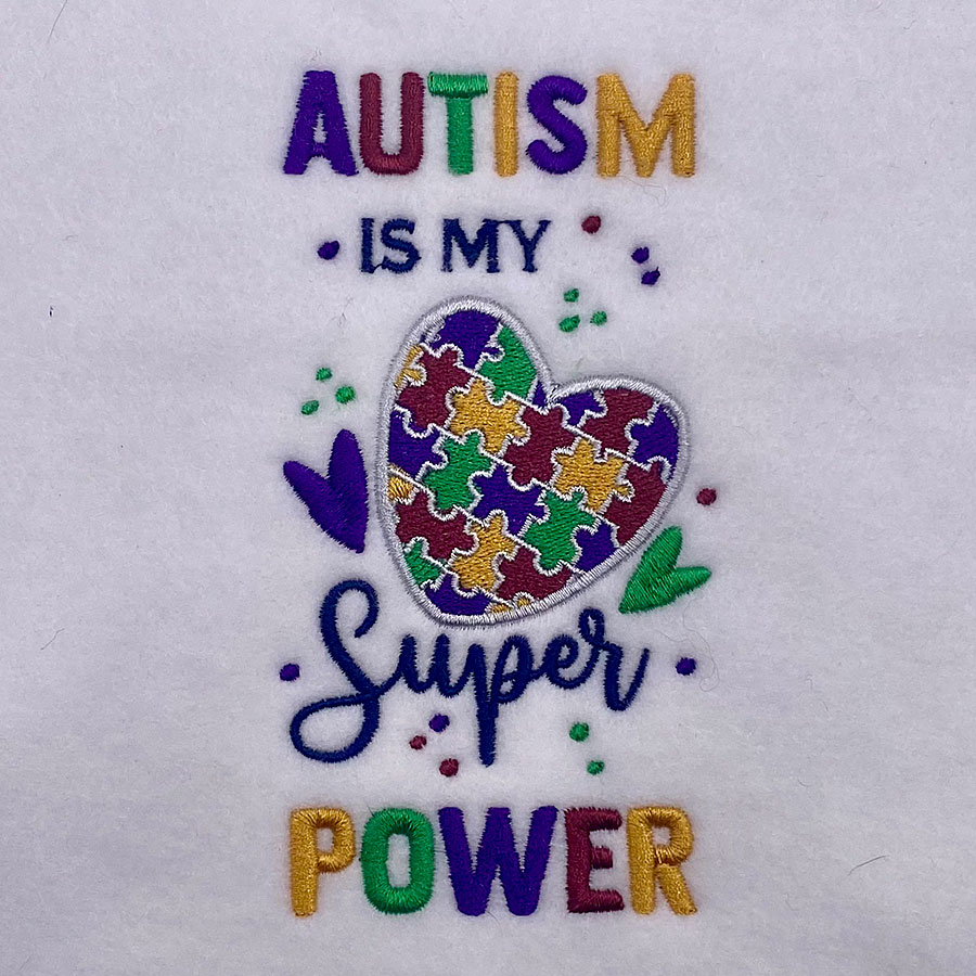 autism is my super power embroidery design