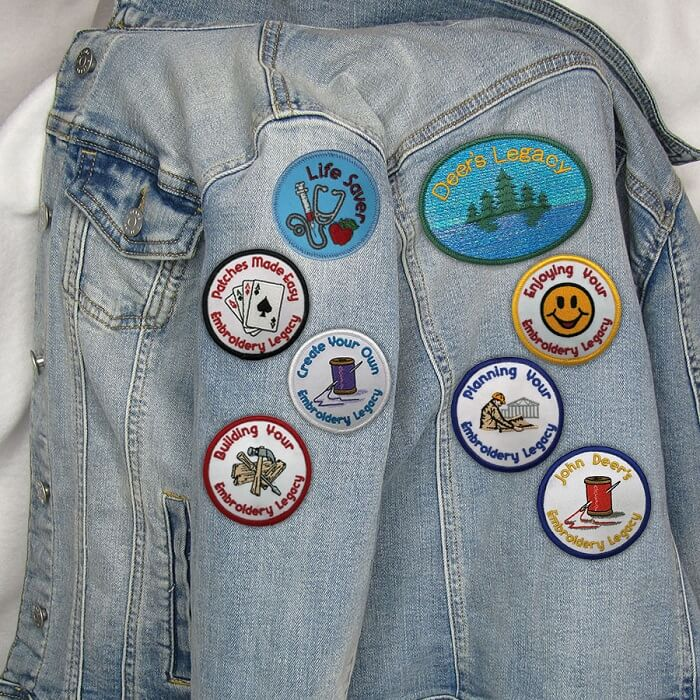 Embroidery patches on jacket
