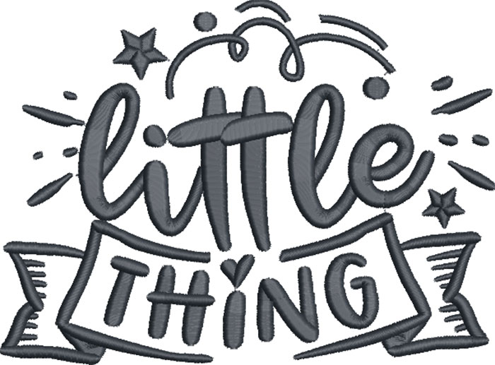 little thing embroidery design