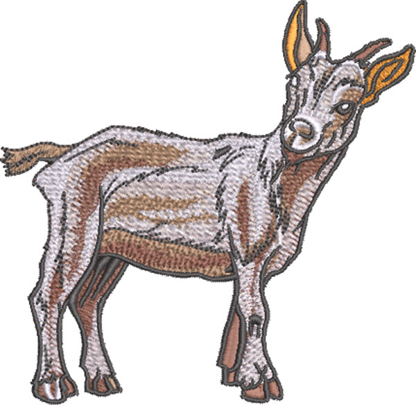 little goat embroidery design