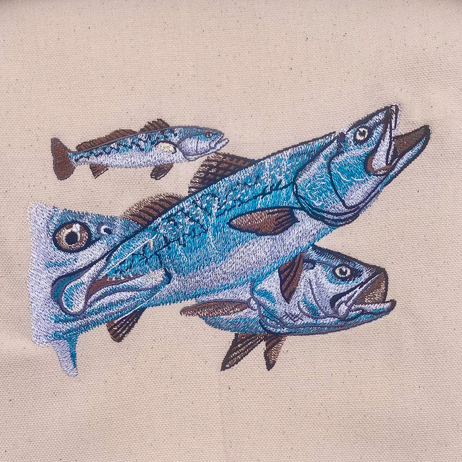 speckled trout underwater embroidery design