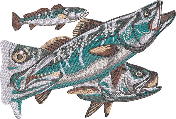 speckled trout embroidery design