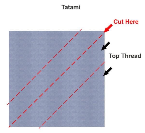 Tatamis stitch