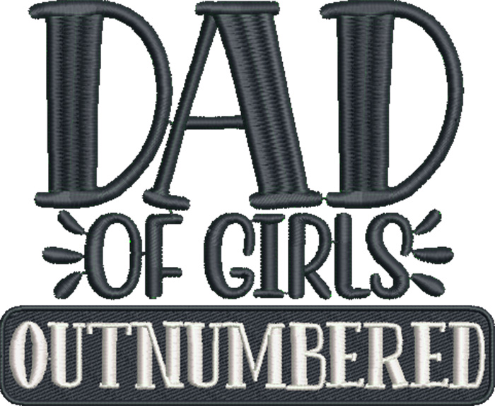 cool dad dad of girls outnumbered