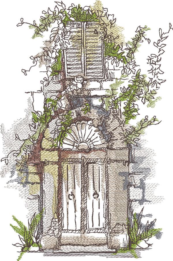 day dreamscape embroidery design