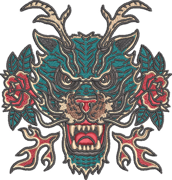 traditional tattoos embroidery design