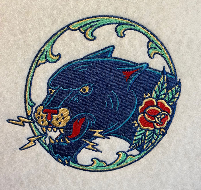 traditional tattoo embroidery design
