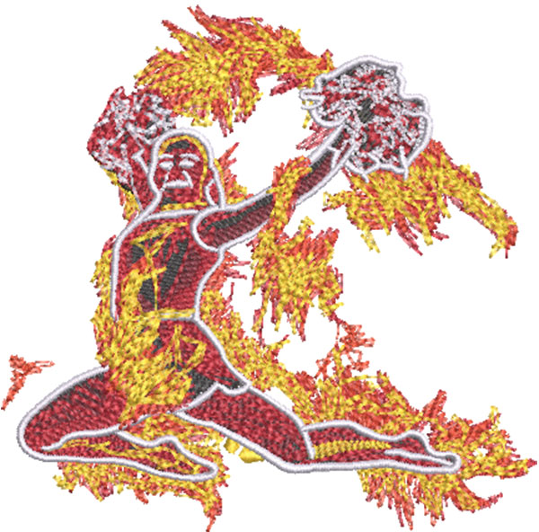 cheerleading fire embroidery design