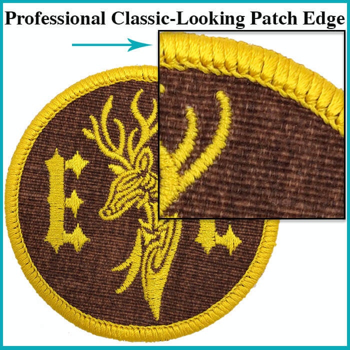 Professional Classic-Looking Embroidery Patch Edges