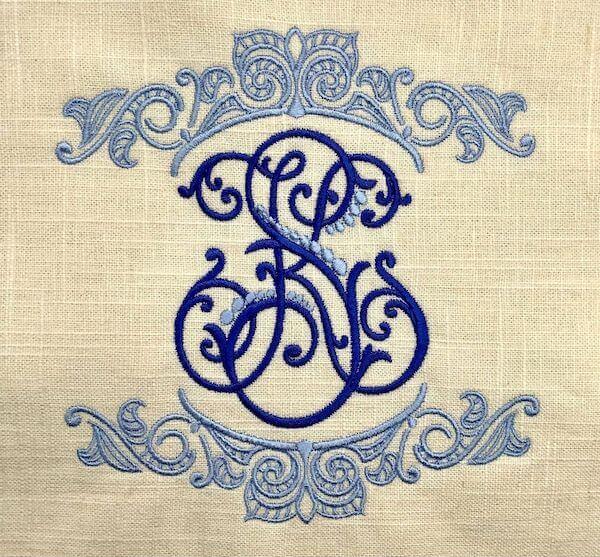 monogram with emb