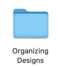 organizing design folder