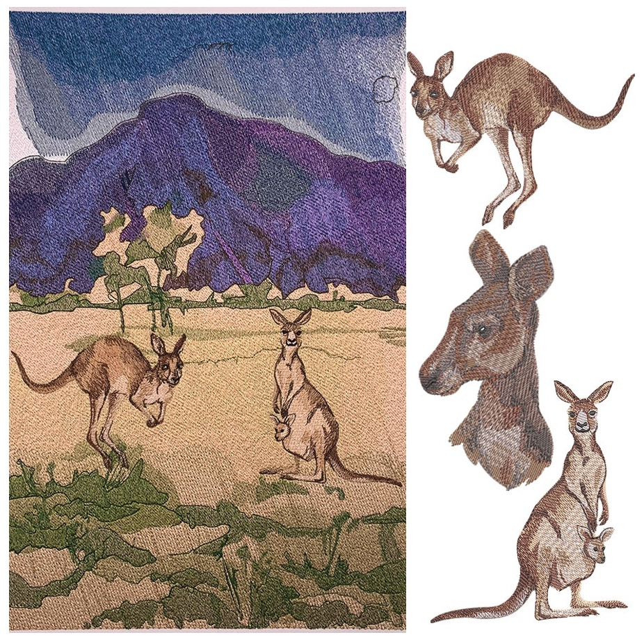 Outback Quokka embroidery design