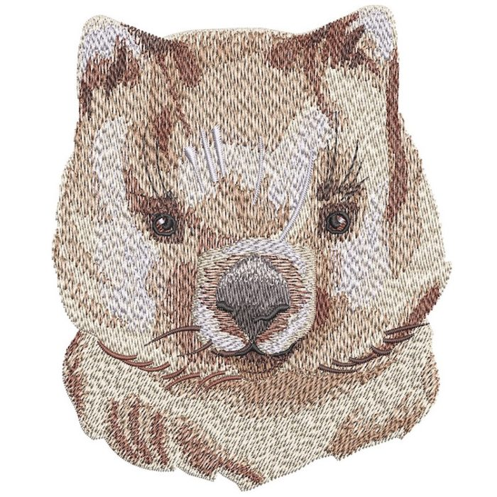 Outback Quokka Face embroidery design