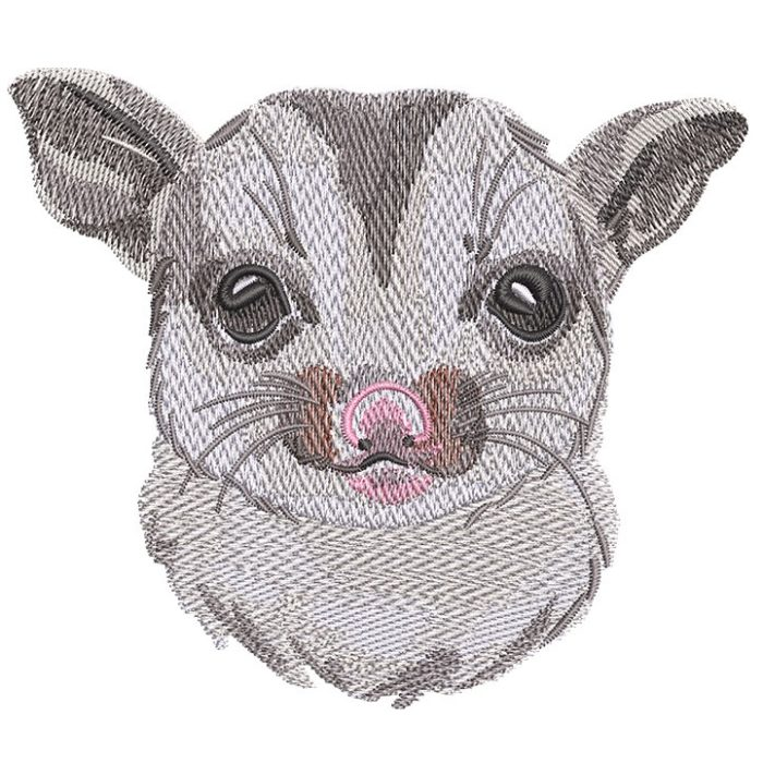 Outback Phalangeriformes Face embroidery design