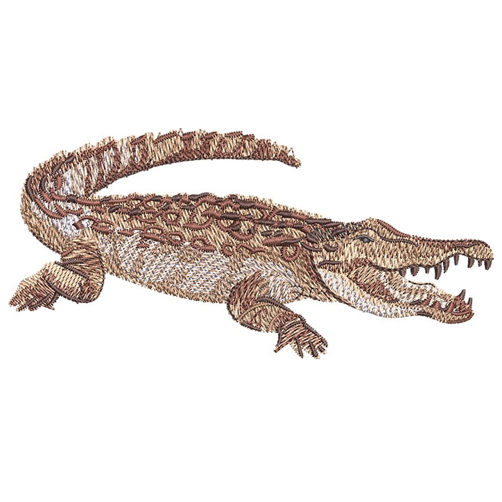 Outback Crocodile embroidery design