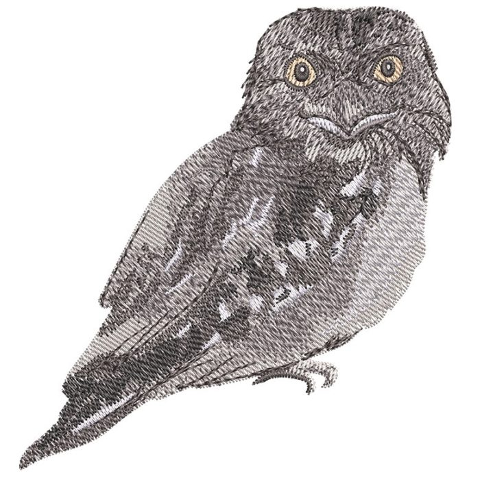 Outback Frogmouth embroidery design