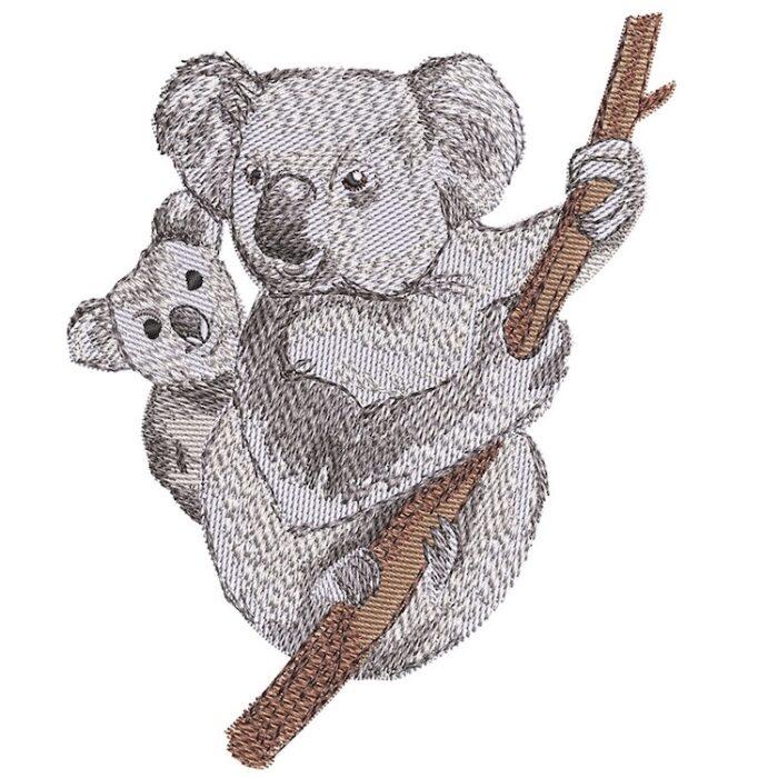 Outback Koaloas embroidery design