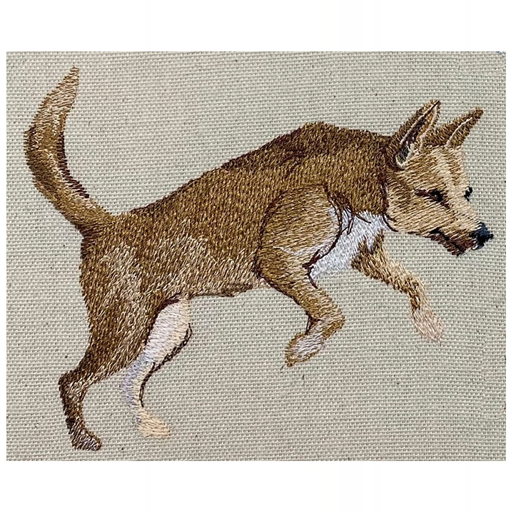 Outback Dingo embroidery design