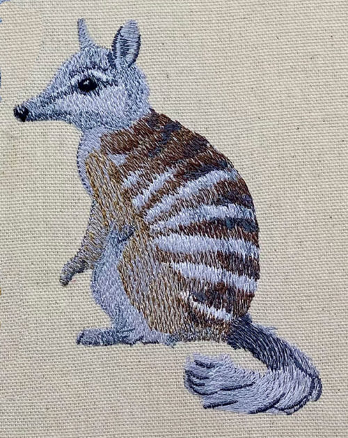 outback numbat embroidery design