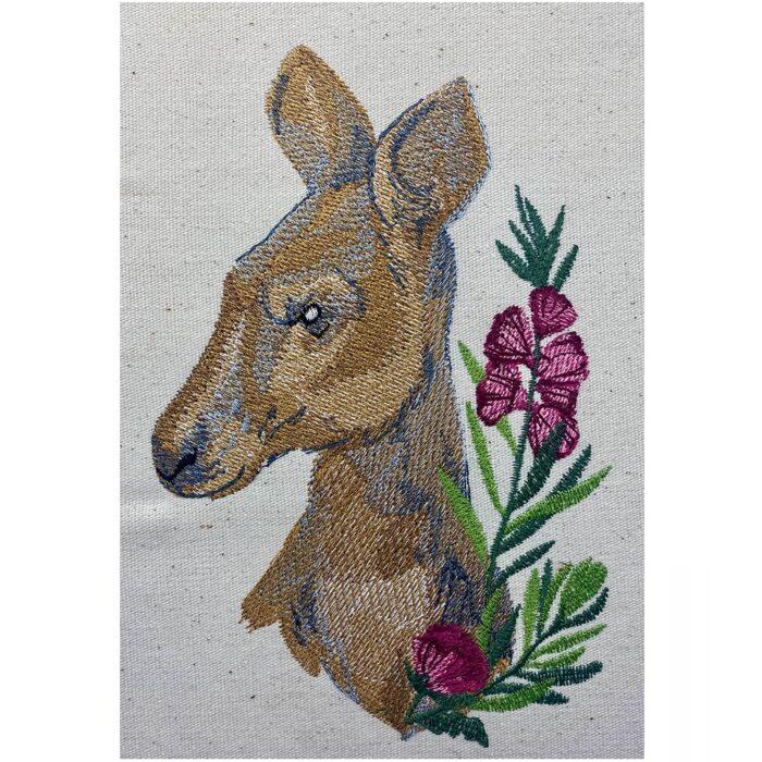 Deluxe Kangaroo embroidery design