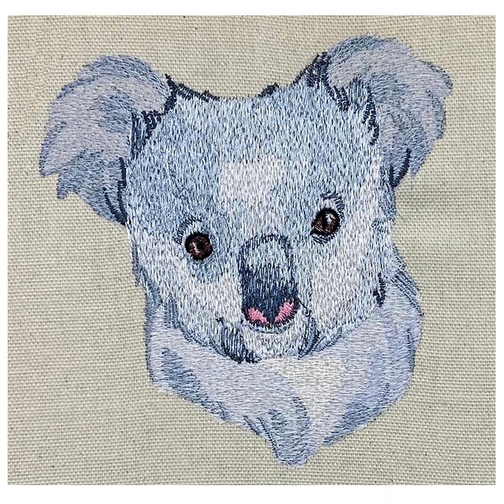 Outback Koala Face embroidery design