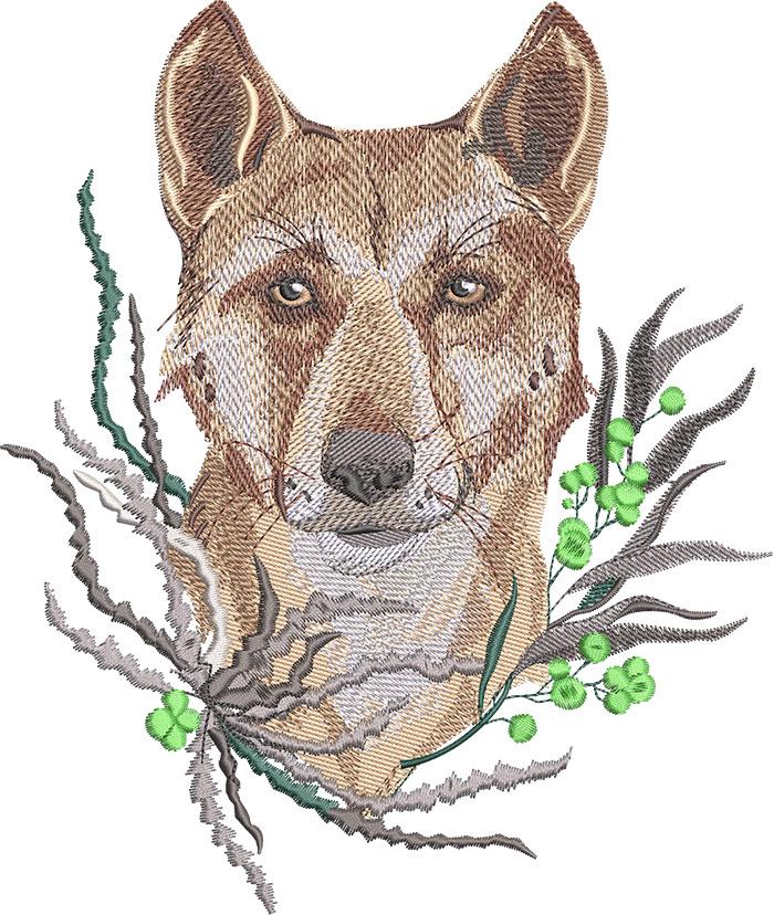 dingo embroidery design