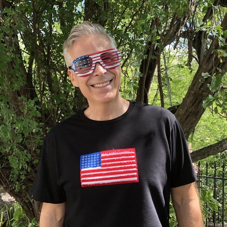 American Flag Fringe Design on Shirt