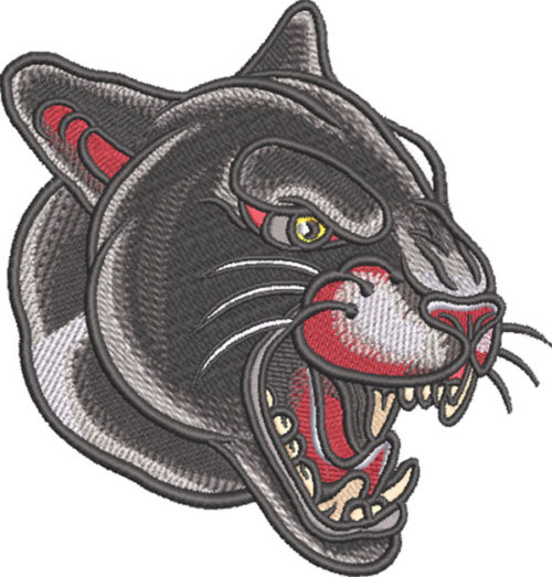 tattoo panther embroidery design