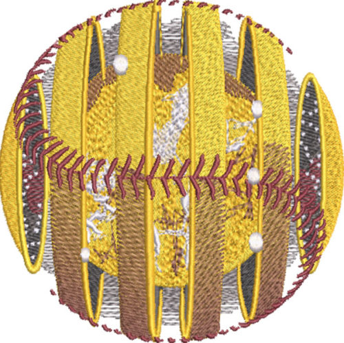 solar softball embroidery design