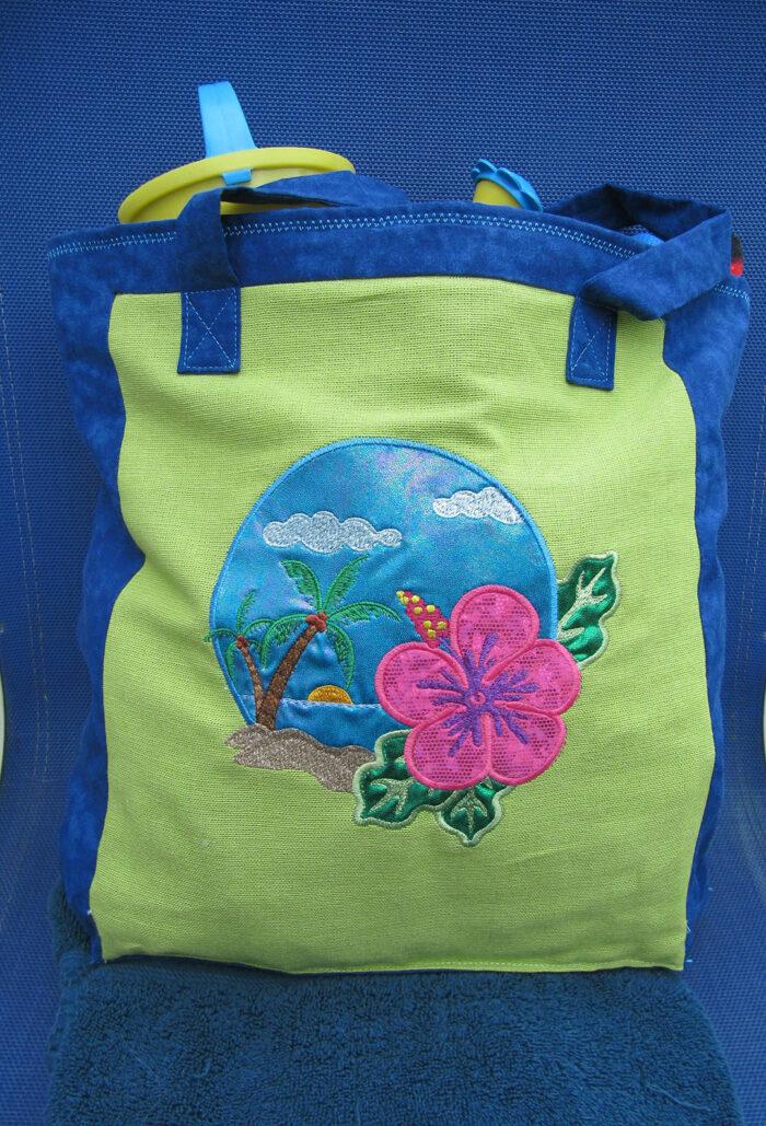 Hawaiian scene bag