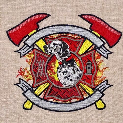 dalmatian maltese cross embroidery design