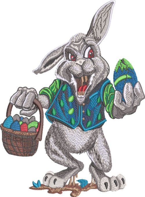 easter rabid embroidery design