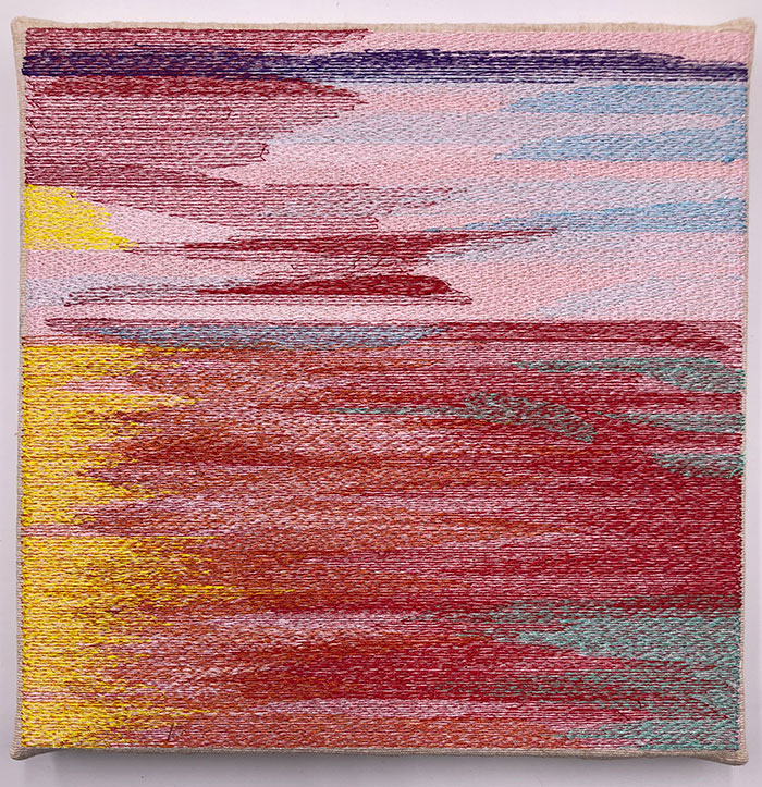 sunrise tile scene embroidery design