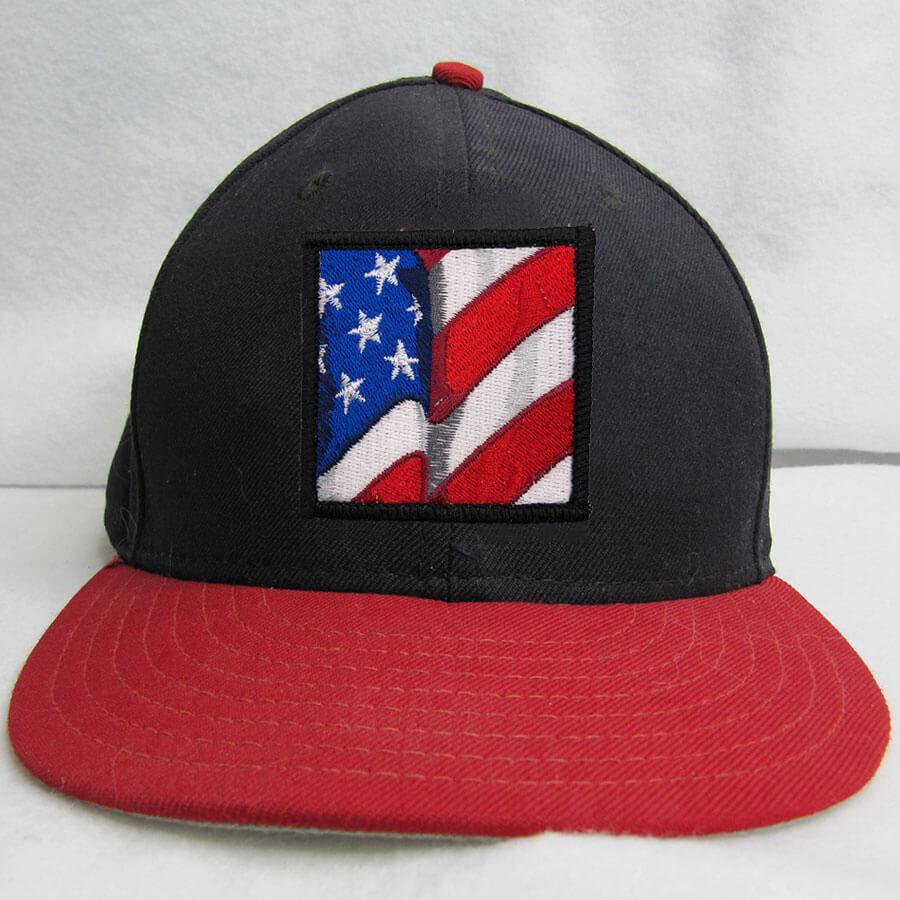 American flag patch cap