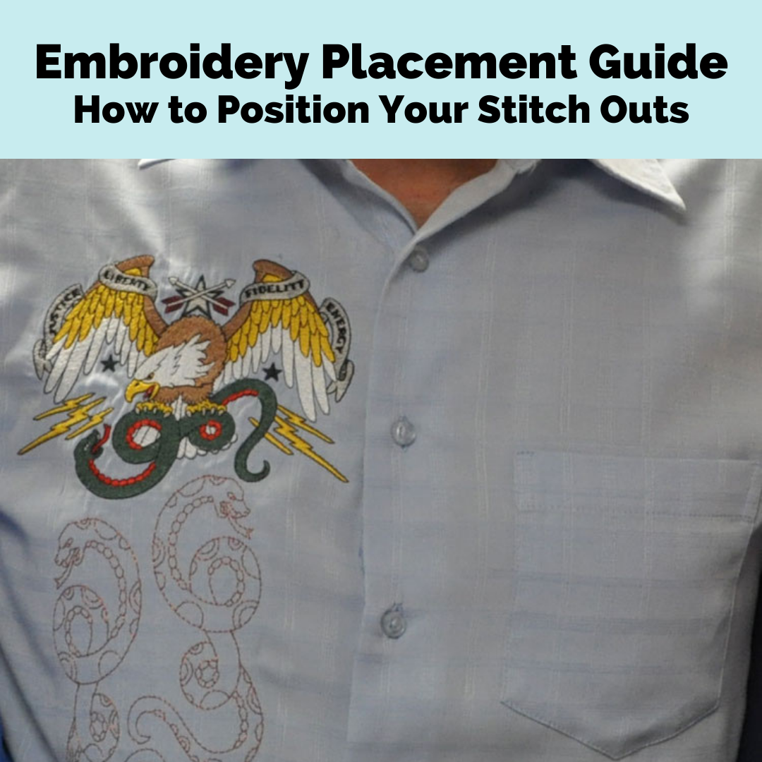 proper embroidery placement