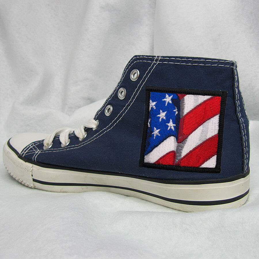 American flag patch shoe