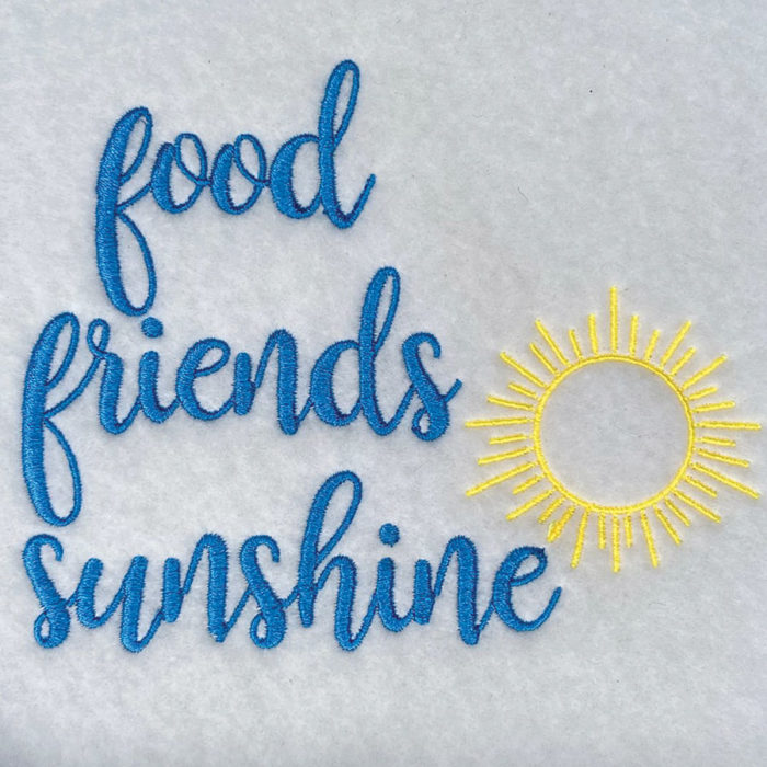 food friends sunshine sewout