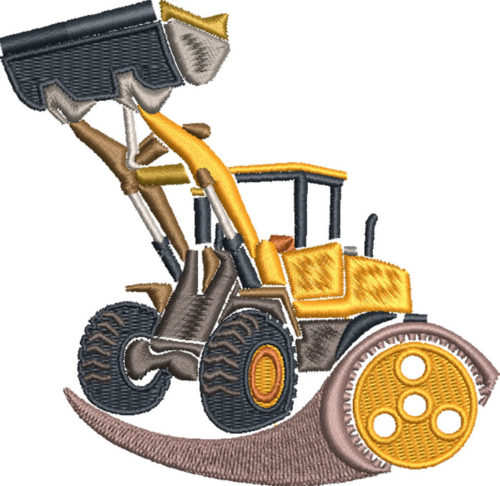 digger equipment embroidery design
